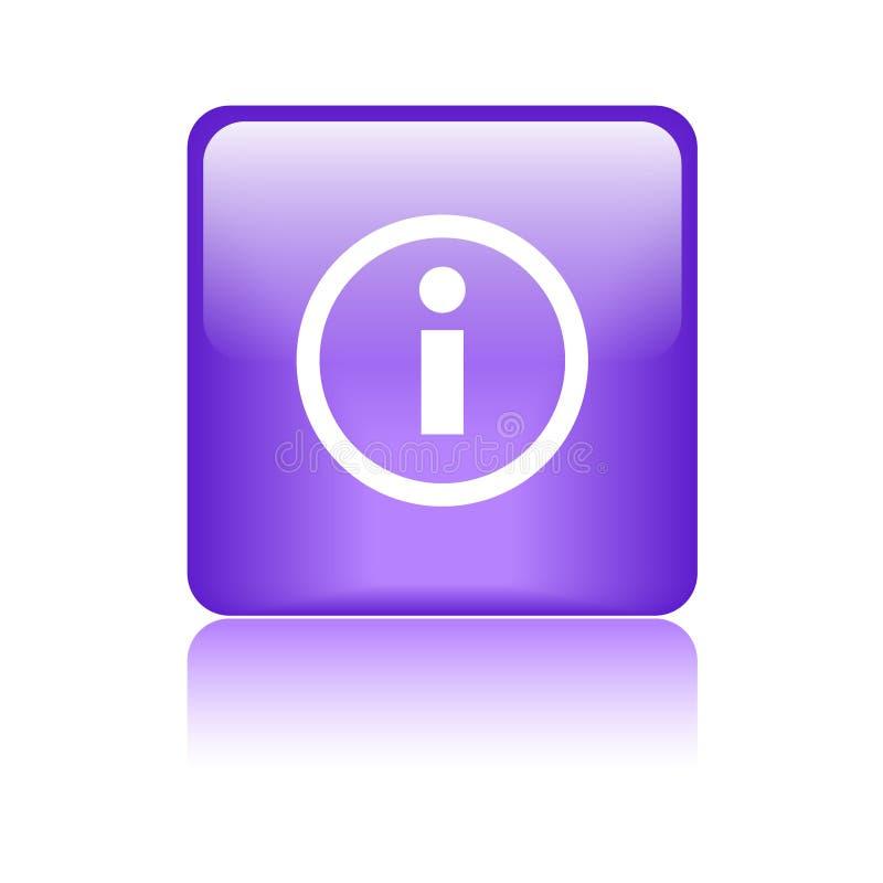 Púrpura del botón del web del icono de la información ilustración del vector