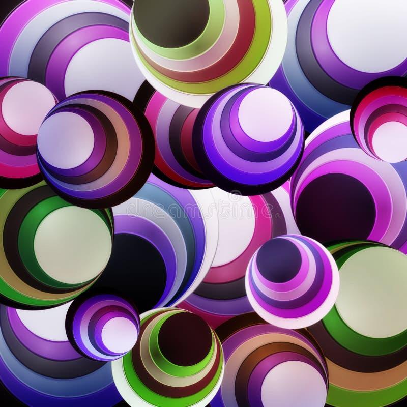 Púrpura del círculo del fondo libre illustration