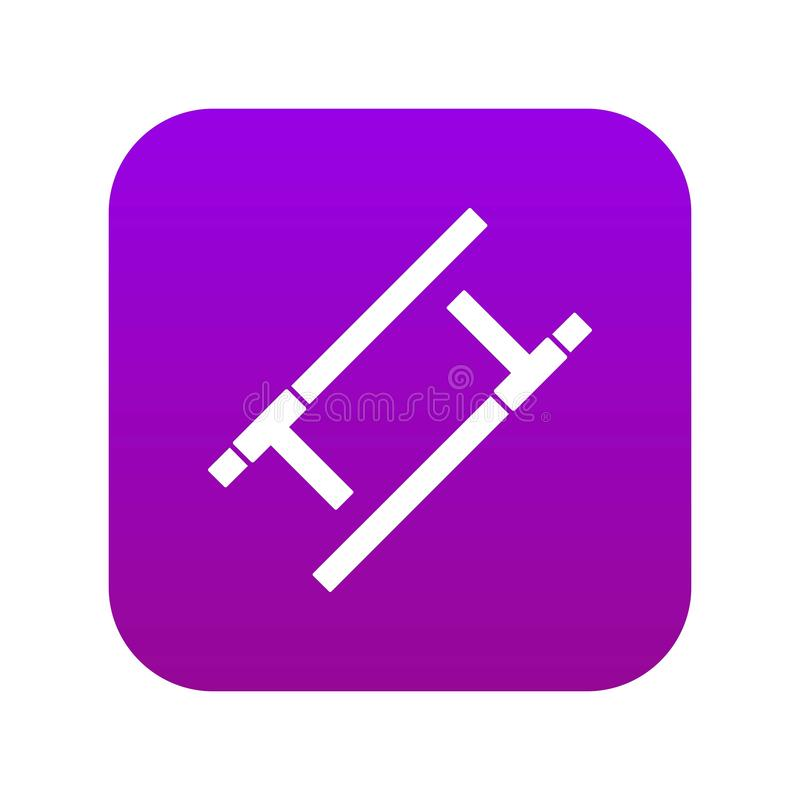 Púrpura digital del icono de Tonfa libre illustration