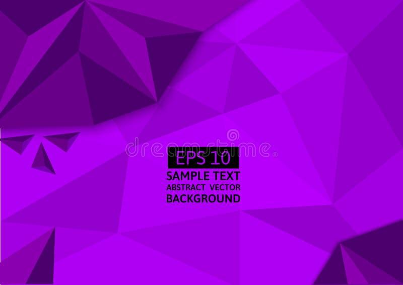 Púrpura, fondo abstracto del vector del polígono Diseño gráfico stock de ilustración