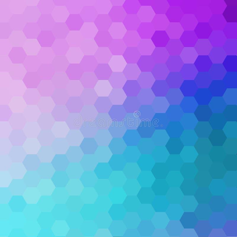 - p?rpura - fondo azul ligero del hex?gono ejemplo abstracto del vector ilustración del vector