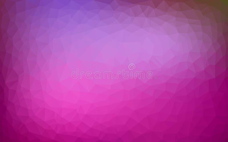Púrpura multicolor, fondo polivinílico desgreñado geométrico del ejemplo de la pendiente del estilo de la papiroflexia del punto  stock de ilustración