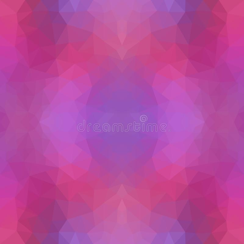 Púrpura multicolora, ejemplo poligonal rosado, que consisten en triángulos Modelo geométrico en estilo de la papiroflexia con libre illustration