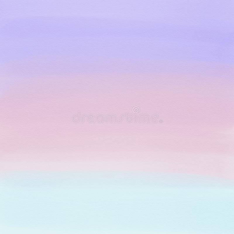 Púrpura, rosa y fondo azul claro del extracto de la pendiente de la acuarela Pintura de Digitaces libre illustration