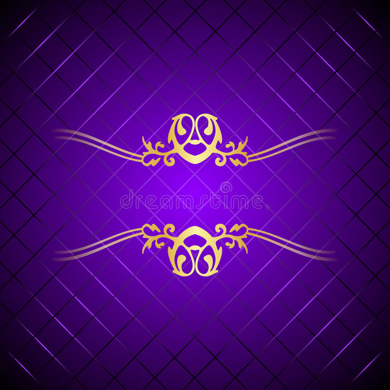 Púrpura y fondo del lujo del oro libre illustration