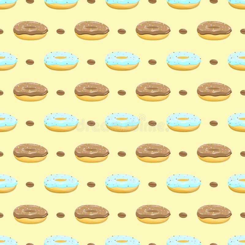 Pączka tortowy bezszwowy wzór ilustracja wektor
