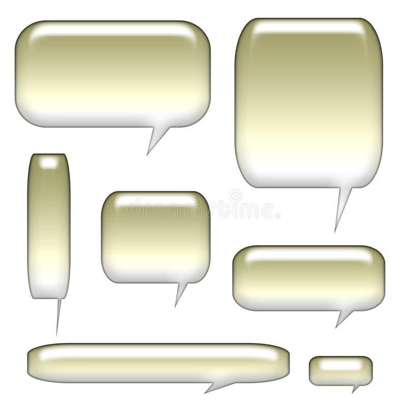 pęcherzyki komunikacji balonów royalty ilustracja