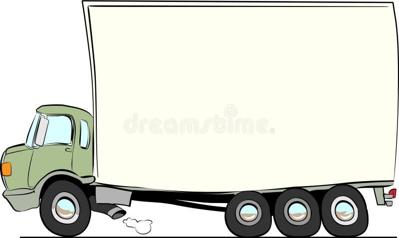 - pędząca ciężarówka ilustracja wektor