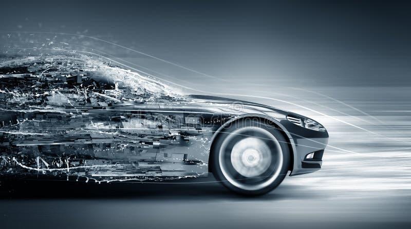 Pędzącego samochodu pojęcie royalty ilustracja