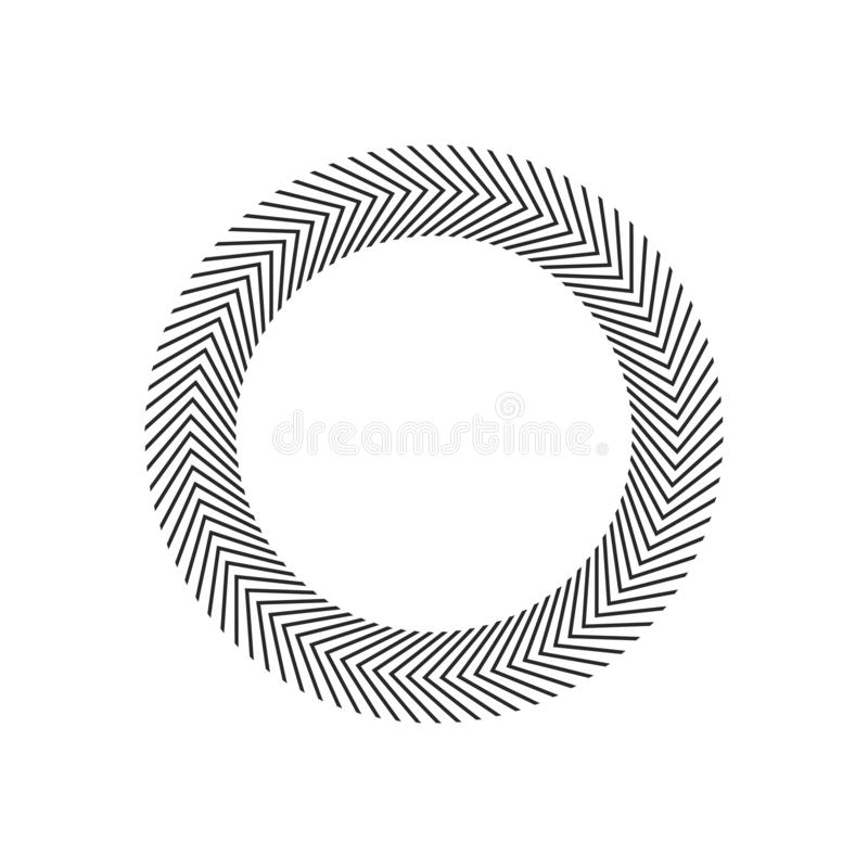 Pęka, promienie, promienia geometrycznego projekta okręgi Wektorowa ilustracja odizolowywająca na biały tle royalty ilustracja