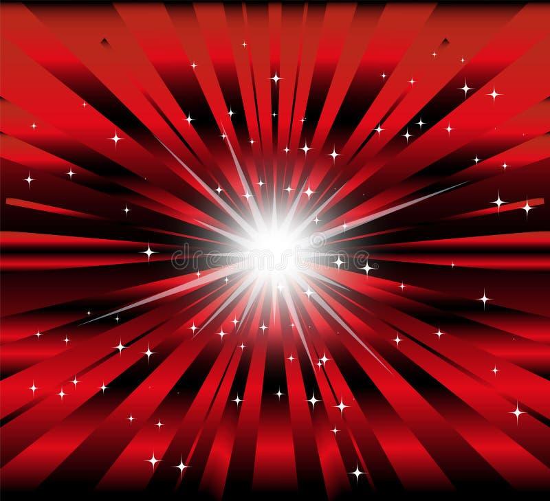Pęka tło z promieniem, gra główna rolę światło i ilustracja wektor