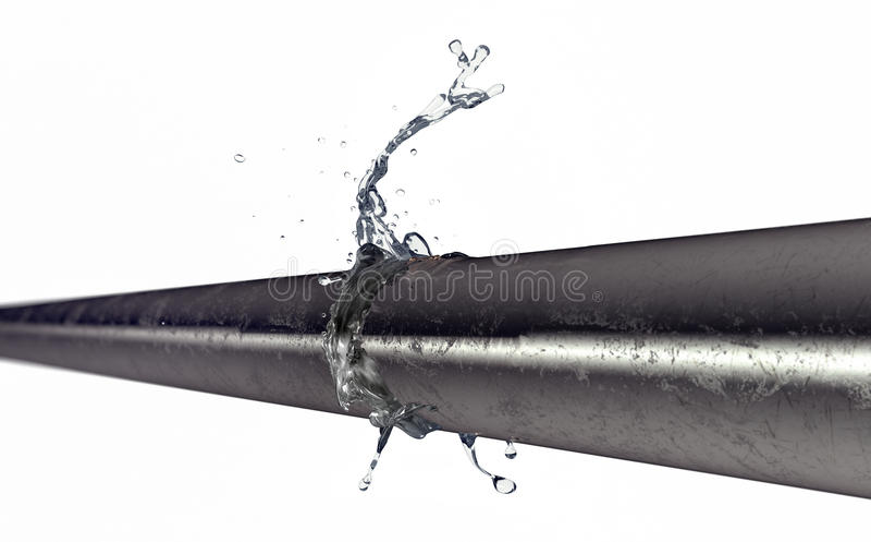 Pękająca groszak drymba z wodny przepuszczać out royalty ilustracja