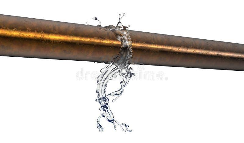 Pękająca groszak drymba z wodny przepuszczać out ilustracji