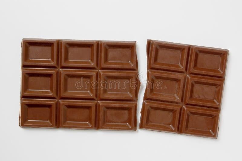 pękająca prętowa czekolada obrazy stock