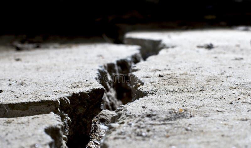 pękający pękać zamknięty beton obrazy royalty free