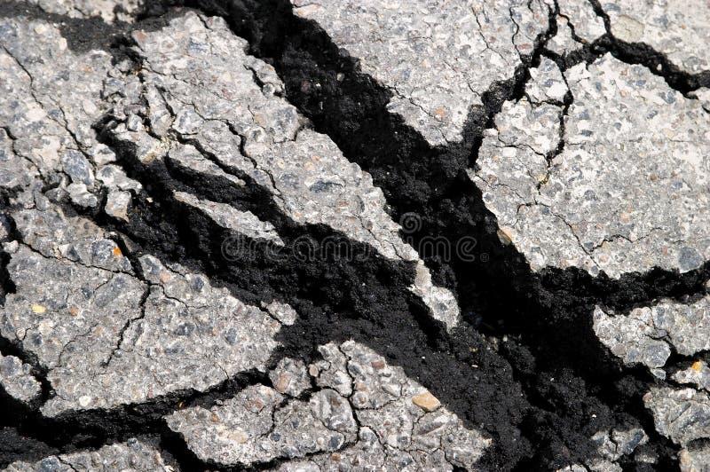 pęknięcie asfaltowy zdjęcie royalty free