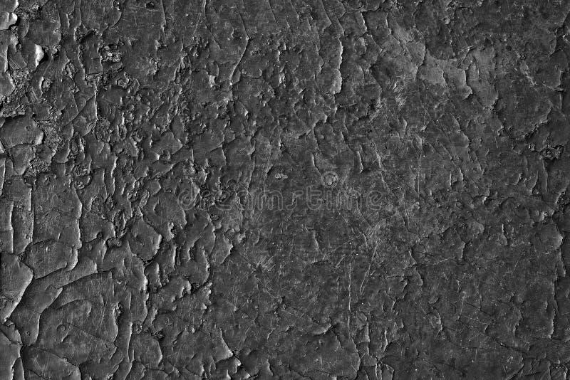 Pęknięta czarna farba Bezproblemowe tło starej tekstury zdjęcie royalty free