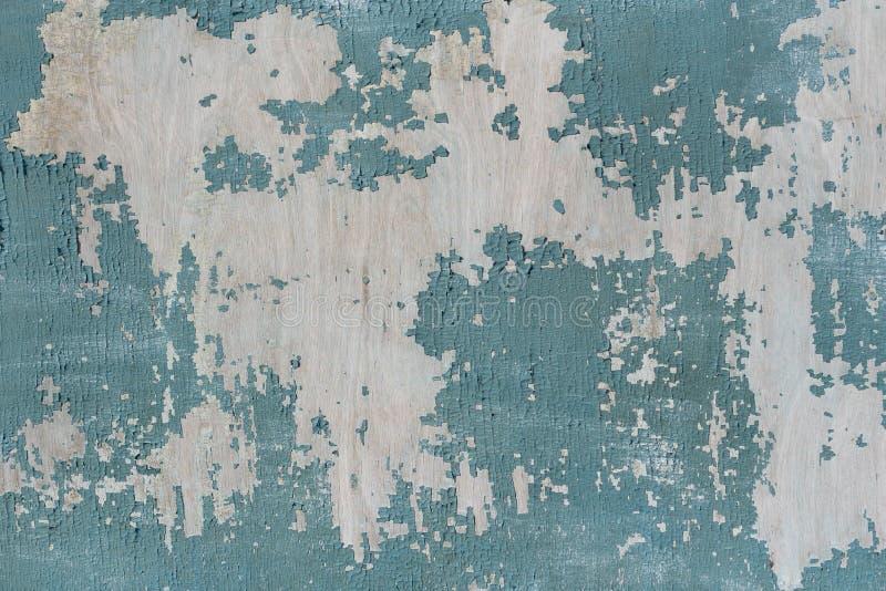 Pęknięta farba turkusowa na starym drewnie tło tekstu pisanego obrazy stock
