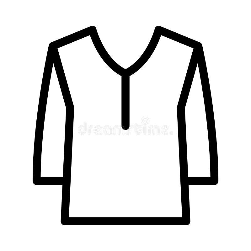 Płótno cienka kreskowa wektorowa ikona ilustracja wektor