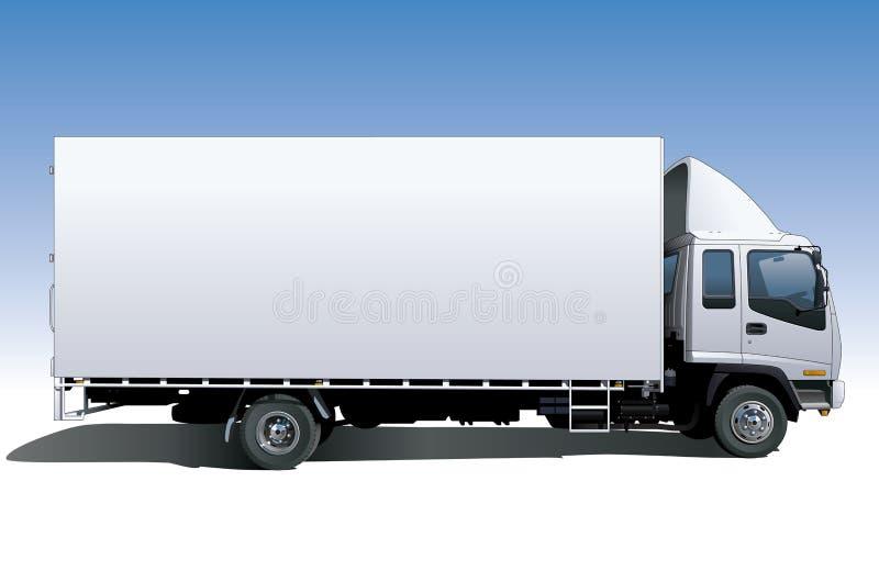 płótno, popierająca ciężarówka. ilustracja wektor