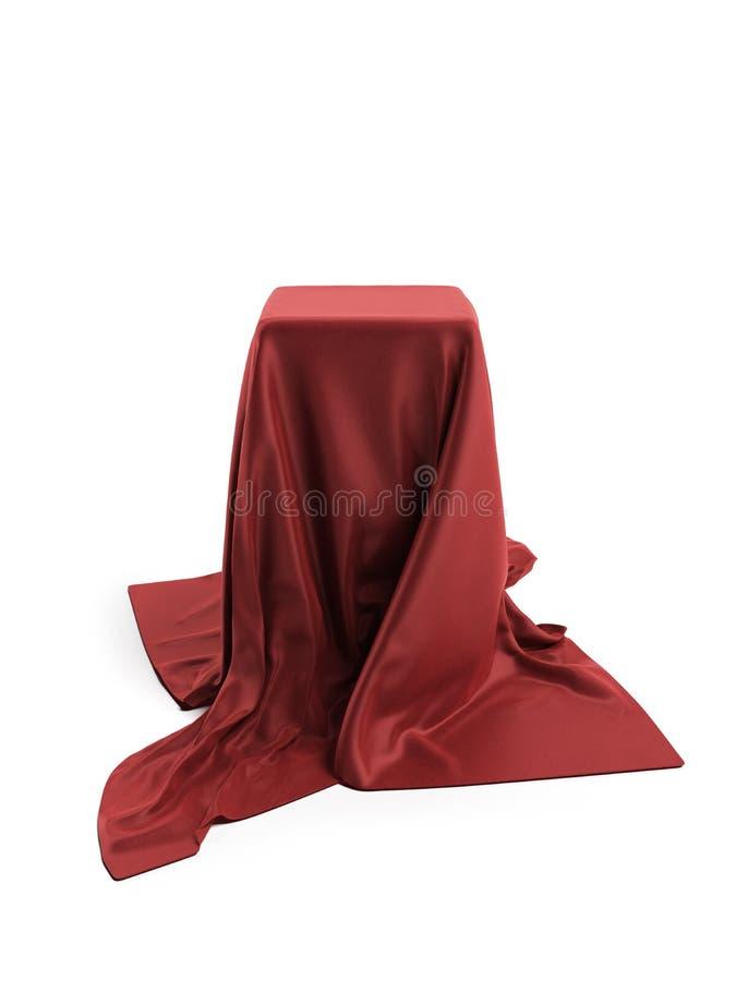 Płótno zakrywający pudełko royalty ilustracja