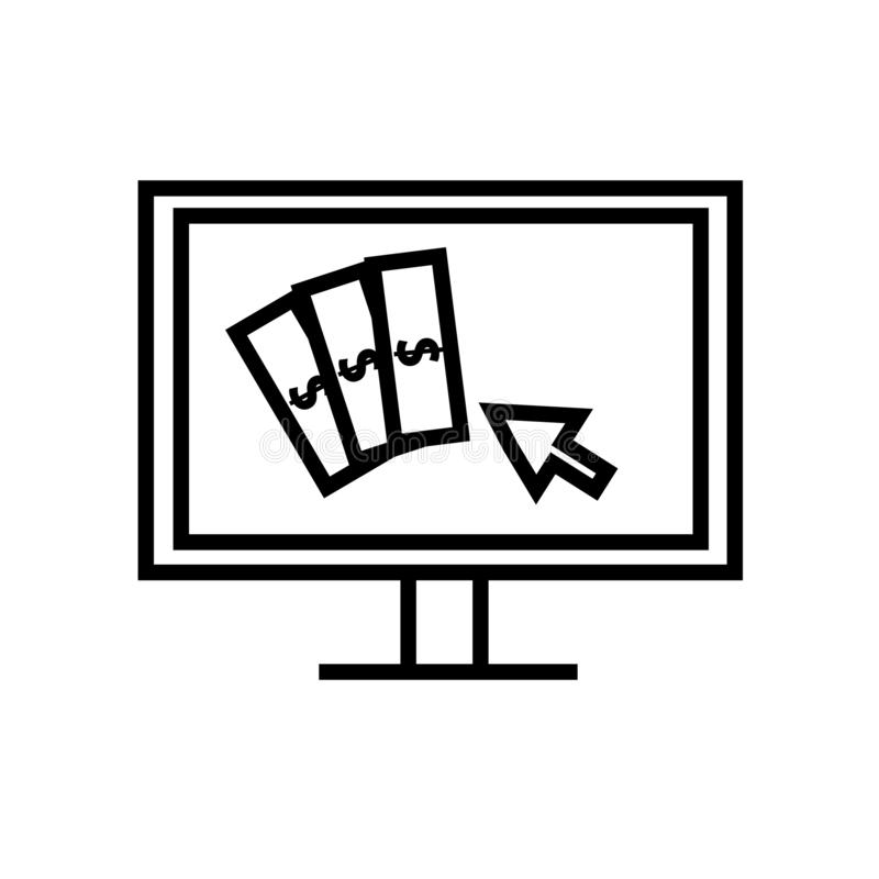Płaci na stuknięcie ikony wektor odizolowywającego na białym tle, wynagrodzenie na stuknięcie znaka royalty ilustracja