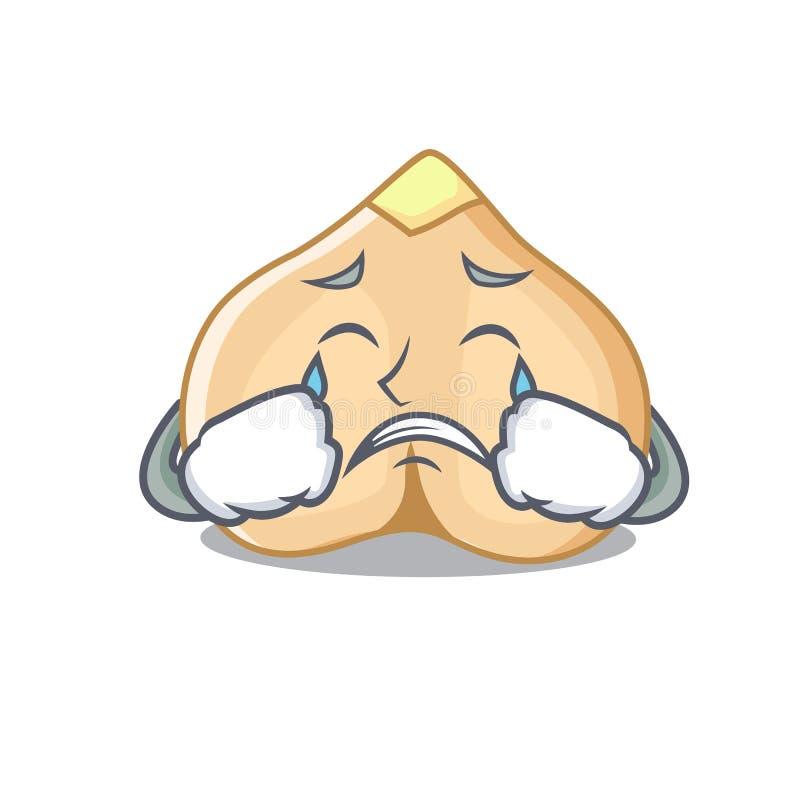 Płaczów chickpeas maskotki kreskówki styl ilustracja wektor