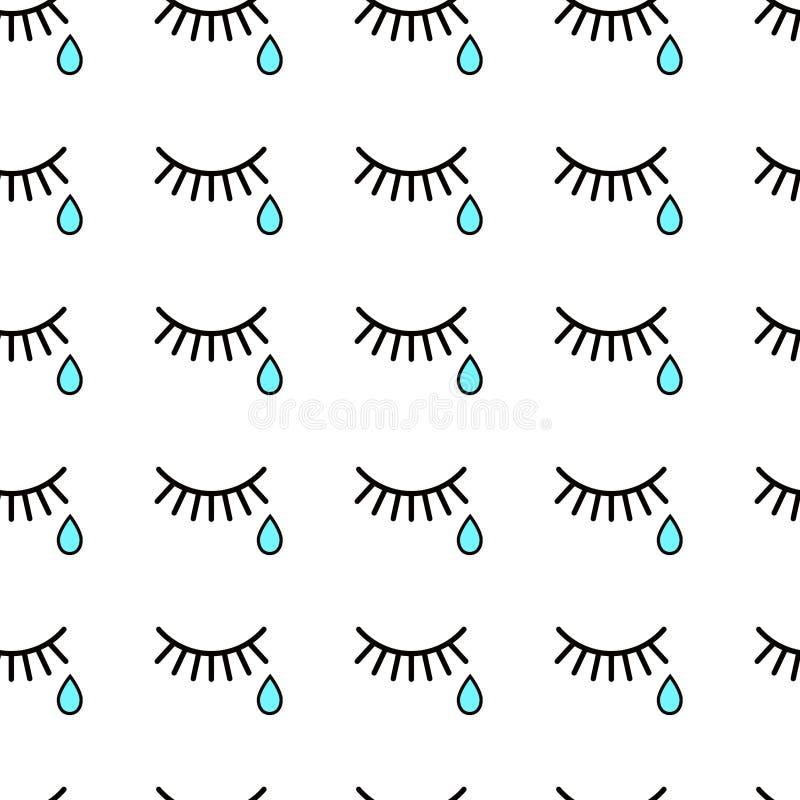 płacz łzy i rzęsy royalty ilustracja