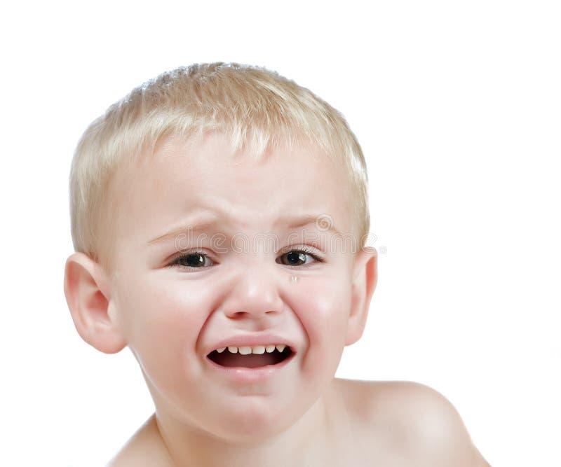 Płacz chłopiec obrazy royalty free