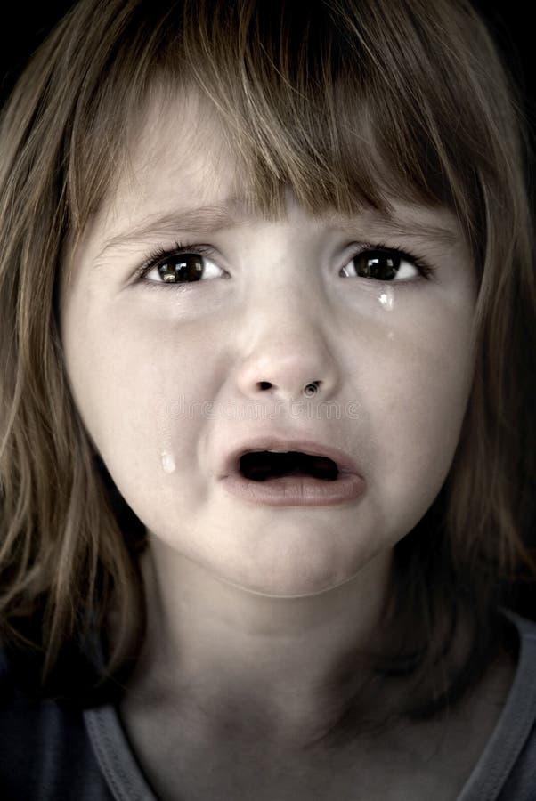 płacz dziewczynę trochę łez zdjęcia royalty free