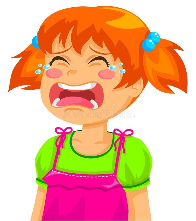Płacz dziewczyna ilustracji