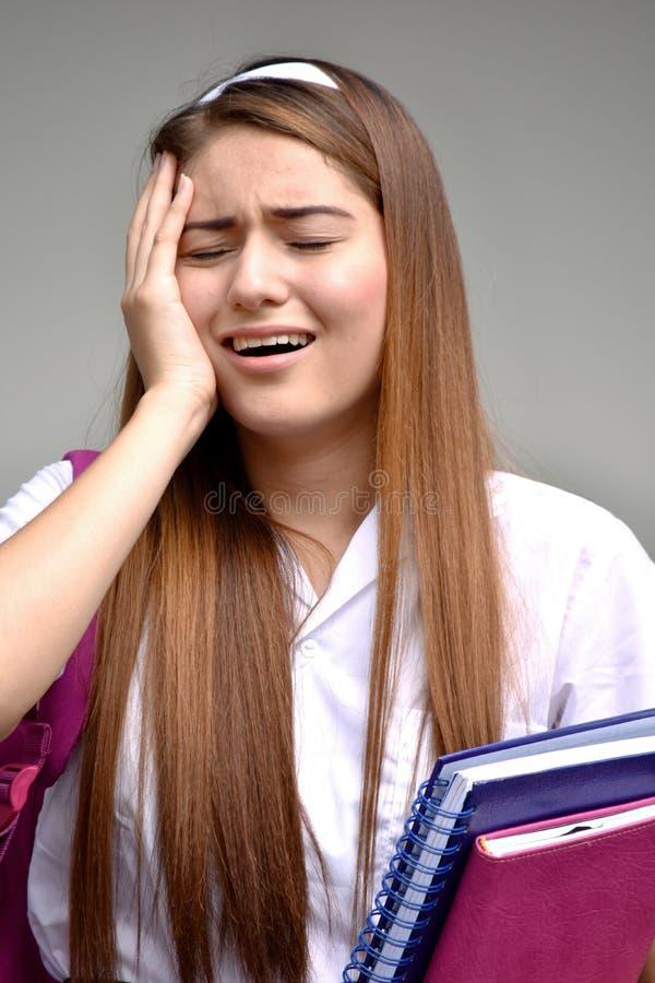 Płacz dziewczyny uczeń zdjęcie stock
