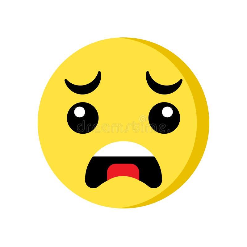 Płacz ikona odizolowywająca na białym tle ilustracji