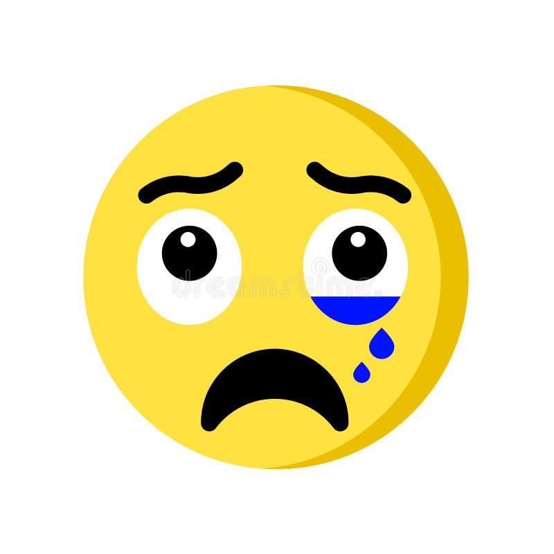 Płacz ikona odizolowywająca na białym tle royalty ilustracja