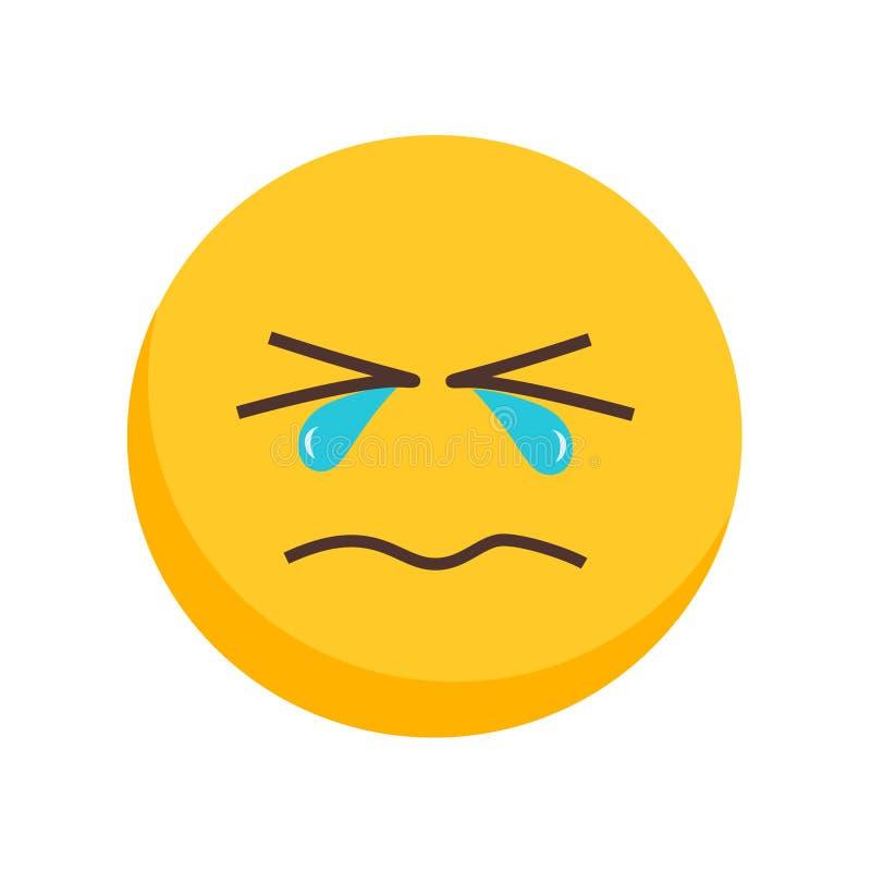 Płacz ikony wektor odizolowywający na białym tle, płaczu znak royalty ilustracja