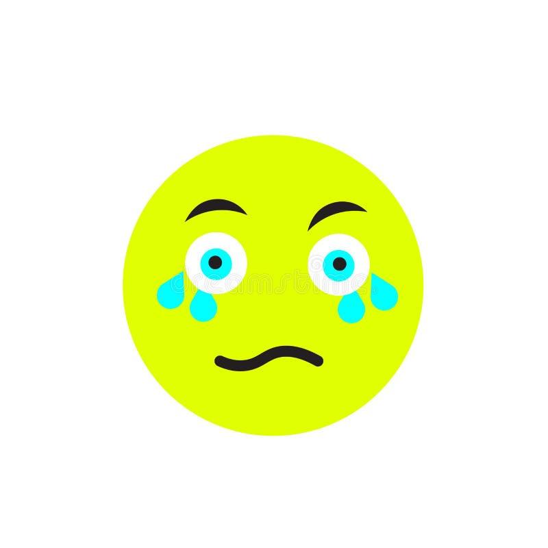 Płacz ikony wektoru znak i symbol odizolowywający na białym tle, płaczu logo pojęcie royalty ilustracja