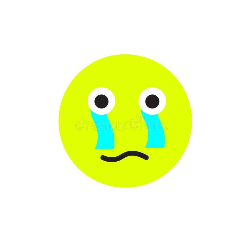 Płacz ikony wektoru znak i symbol odizolowywający na białym tle, płaczu logo pojęcie ilustracja wektor