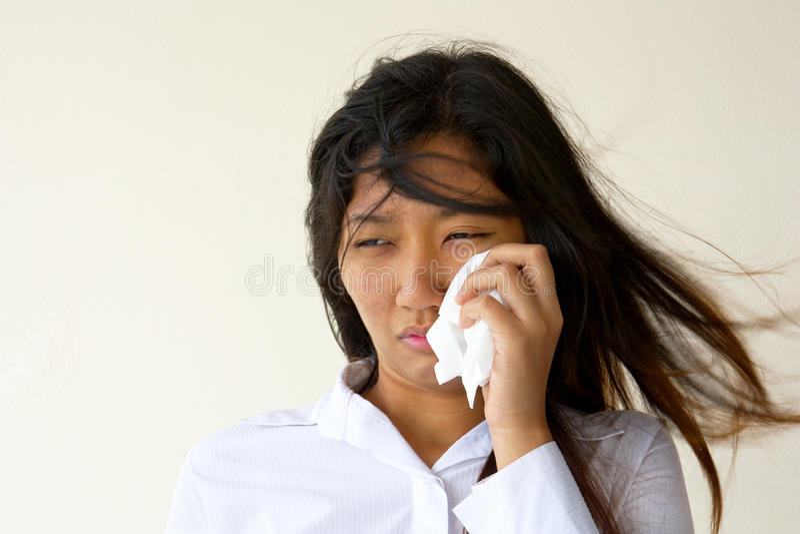 płacz kobieta obraz stock
