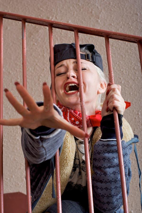płacz kobiety pomocy zdjęcia royalty free