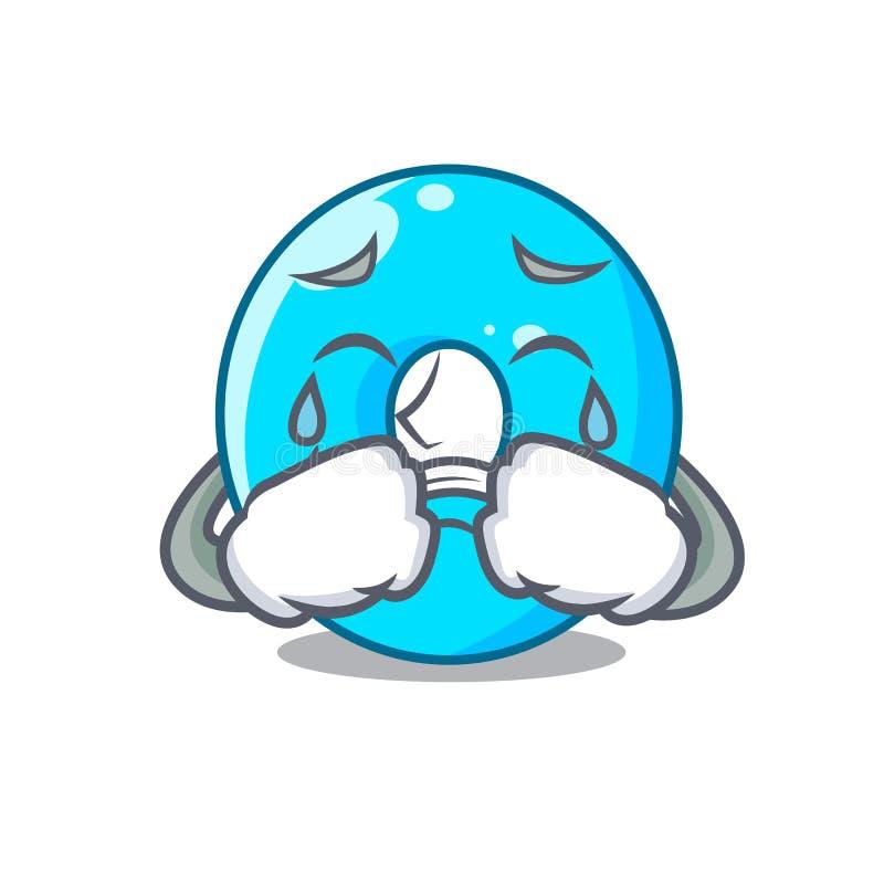 Płacz kreskówka liczby zero koloru błękit ilustracji