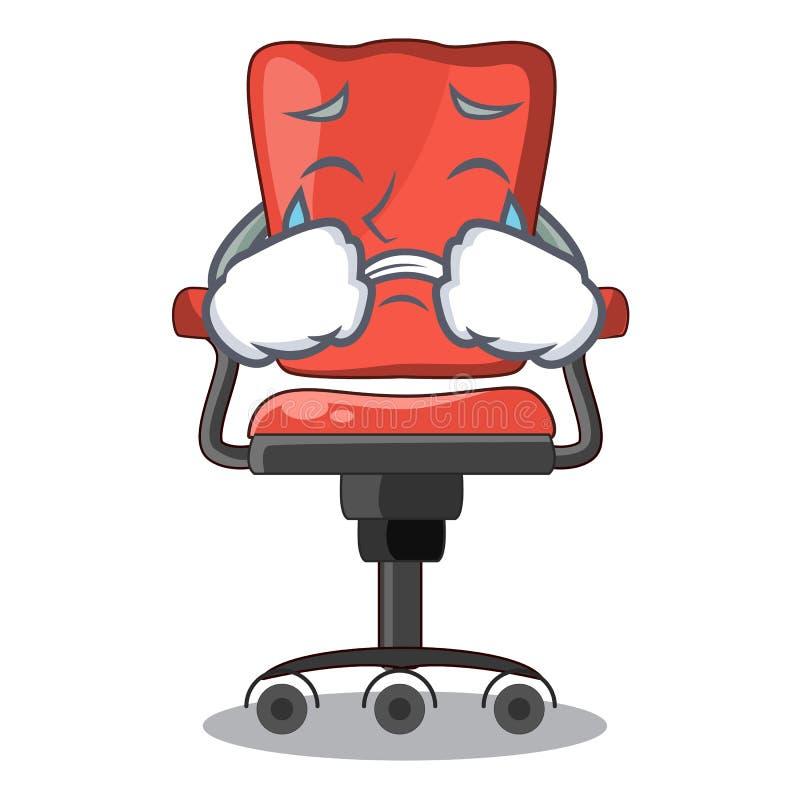 Płacz kreskówki biurka krzesło w nowożytnym żywym pokoju ilustracja wektor