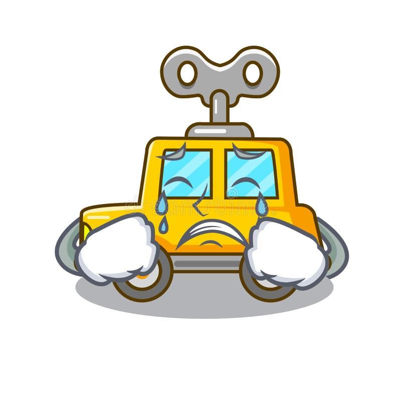 Płacz kreskówki clockwork zabawki samochód dla prezenta ilustracji
