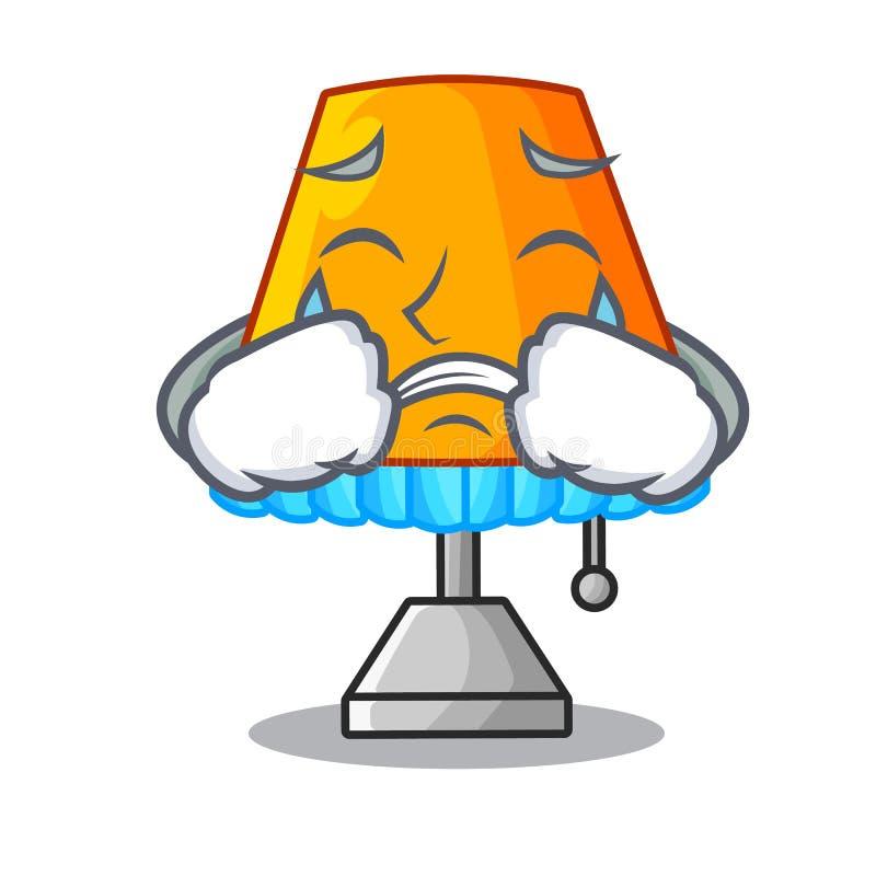 Płacz kreskówki dekoracyjna stołowa lampa w żywym pokoju ilustracja wektor
