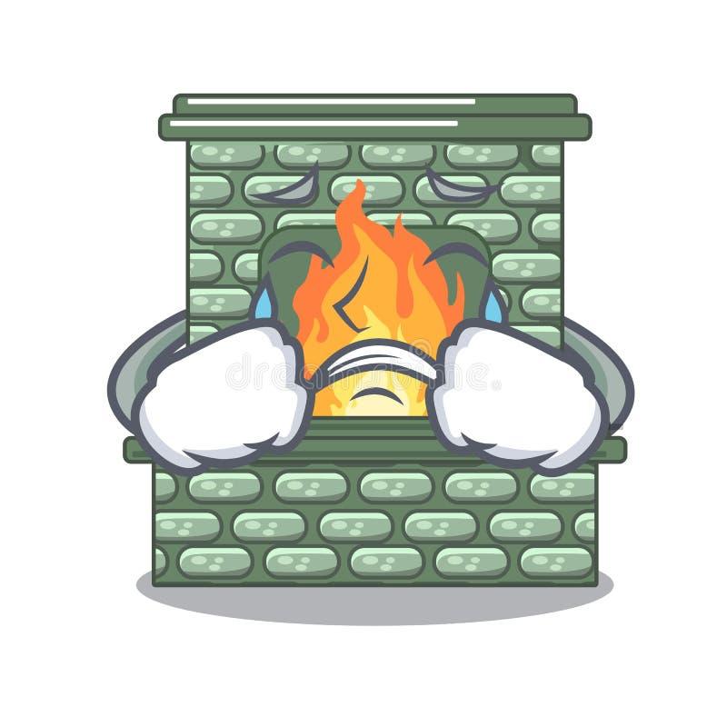 Płacz kreskówki kamienna graba z płomieniem ilustracja wektor