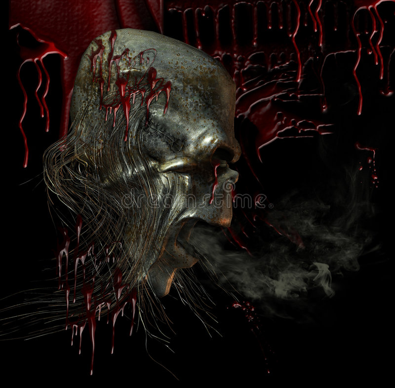 płacz krwi ilustracja wektor