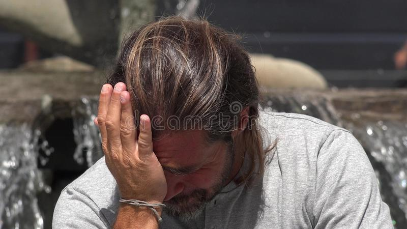 Płacz osoba zdjęcia stock