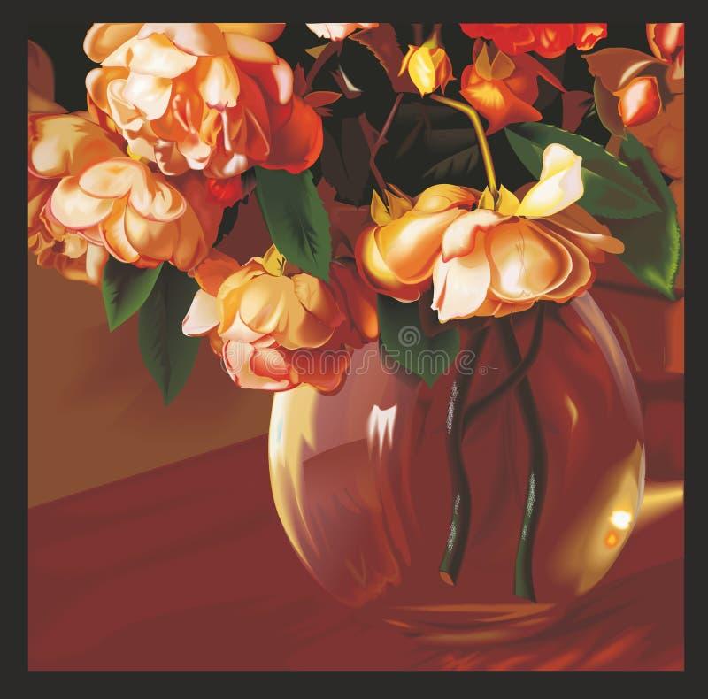 Płacz róże ilustracja wektor