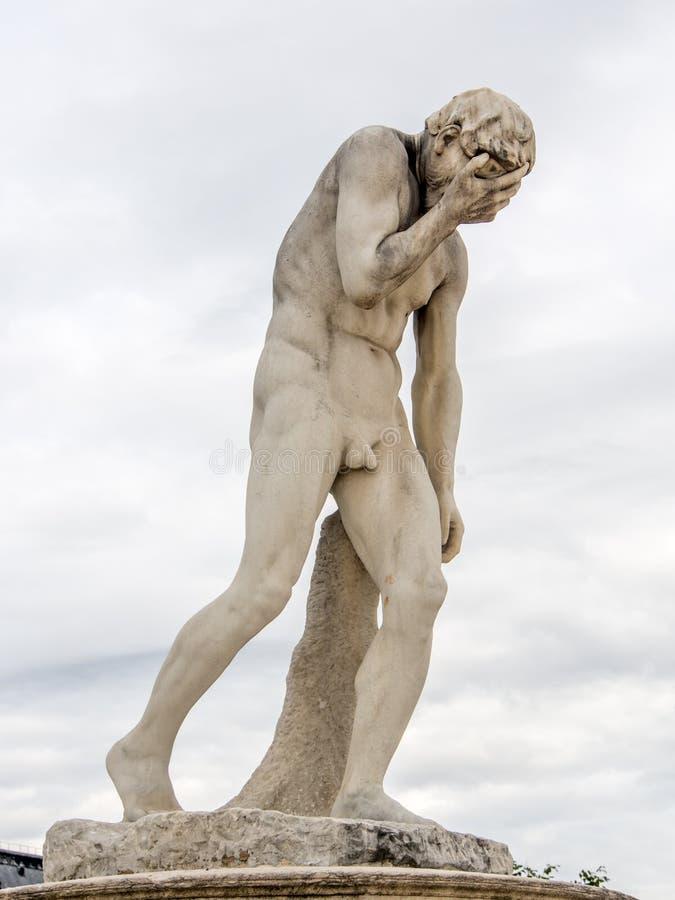 Płacz statua zdjęcie stock