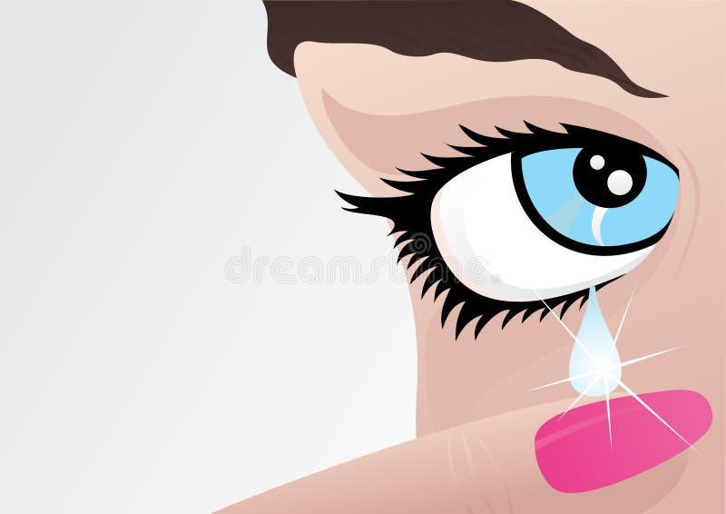 płacze dziewczyny royalty ilustracja