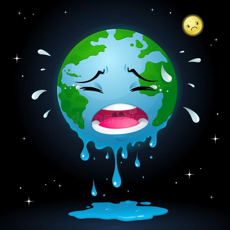 Płacze ziemia ilustracji